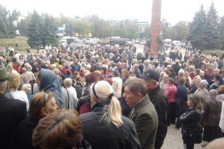 Protests against DPR/LNR on the territories controlled by separatists